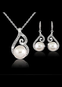 In Stock Marvelous Alloy Wedding Jewelry Sets With Rhinestones