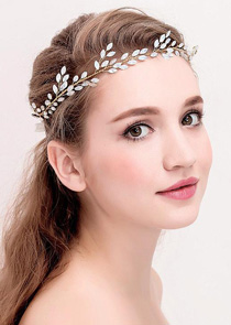In Stock Pretty Alloy Wedding Hair Jewelry With Rhinestones