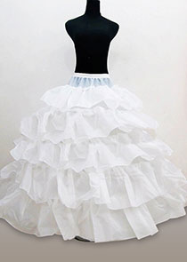 In Stock (White)Five Layers Flounce Wedding Petticoat